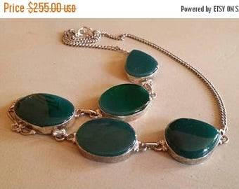 Holiday SALE 85 % OFF Onyx Necklace .925 Sterling  Silver  Gemstone  Ethnic  Tribal