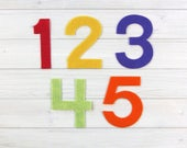 Felt Numbers, Large Block Style, 3.5 inches, Classroom Supplies, Felt Board Shapes