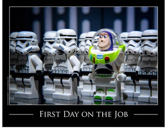 """Pop Culture, Toy Photography Art Print, Unique Gift for Her or Gift for Him: """"First Day on the Job"""""""