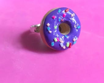 Donut Ring Polymer Clay Donut Doughnut Ring Donut Jewelry