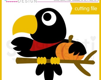 Fall Crow SVG, Fall Crow DXF, crow clipart, eps, DXF crow cut file, fall svg, svg Files for Cutting Machines