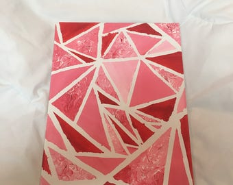 """12x9 in Acrylic Painting """"Triangles Are My Favorite Shape v2"""""""