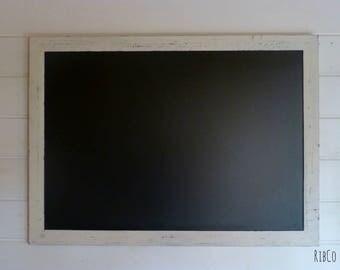 Extra Large blackboard / chalkboard / Wedding chalkboard- Handmade. Aged white frame.