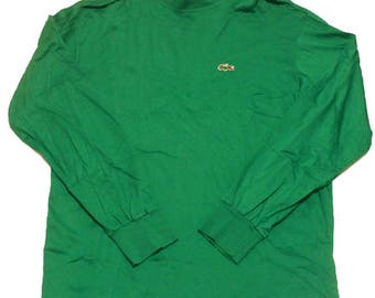 70's vintage Lacoste mock neck long sleeve shirts made in France