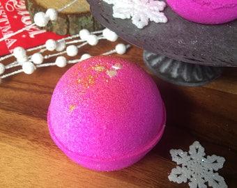 Santa Baby Bath Bombs - Vegan Pink Champane Bath Bomb Natural Bath Fizzy