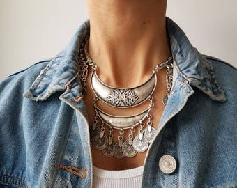 Ottoman necklace//Silver chain//Turkish Jewelry