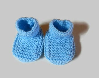Knitted Toddlers Boot Blue V5645