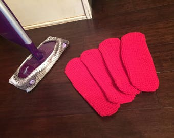 Reusable swiffer wet jet pads