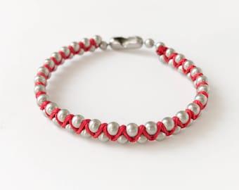 Shanghai Red Zig Zag Chain Bracelet