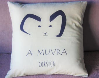 "Corsica design ""A Muvra"" beige and black pillow"