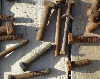 Rusty crusty bolts  rustic steampunk