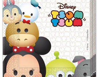 Set of 20 napkins Tsum Tsum