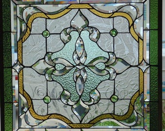 Stained Glass Window Hanging 27 1/2 square