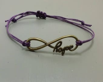Infinity Bracelet, Hope Bracelet, Charm bracelet, Fashion Jewelry, Gifts for Her