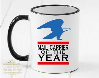 Mailman Gift - Gift for Mail carrier - Mail carrier coffee mug - Dishwasher Safe - Microwave Safe - Mailman coffee cup - Postal Worker Gift