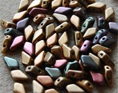KITE Beads, 2 Hole, 9mm x 5mm, Violet Rainbow, 00030//01640, sold in units of approx 15 gms.