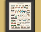 Museum-Quality Walt Disney World Attraction Vehicles Print