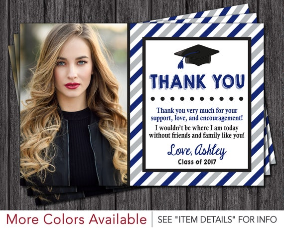 Graduation Thank You Cards: Graduation Thank You Card Graduation Party Thank You Card
