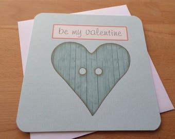 Greeting card - Be my Valentine - 15cm x 15cm