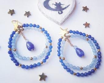 hoop earrings star