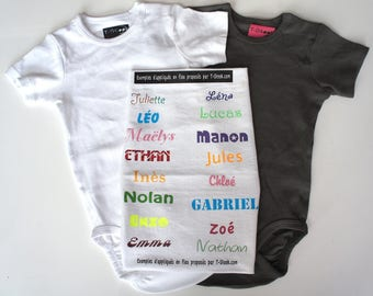 DIY kit: Bodysuit personalized with heat-sealed patterns