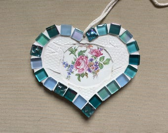 Ceramic mosaic heart