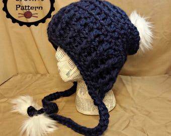 CROCHET HAT PATTERN Instant Download Pdf - Stella Chunky Textured Beanie  Baby-Adult English Only