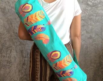 Bohemian Yoga Mat Bag / Yoga Bag / Sports Bags / Pilates Bag / Pilates Mat Bag /Women bag / Canvas bag