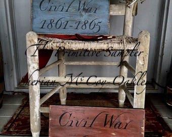 Civil War Sign, Civil War, North and South, War Between the States