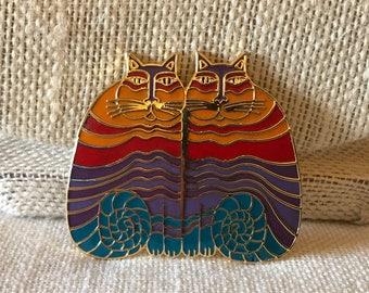 Laurel Burch Rainbow Cats Pin