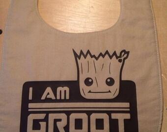 I am Groot Baby Bib