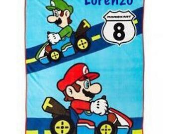 "Super Mario Kart 8 46"" x 60"" Plush Throw Blanket Personalized"