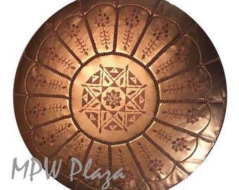 Sale- Metallic Bronze Moroccan Pouf / Ottoman