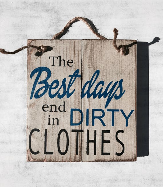 Clothes Wash Signs: Dirty Clothes Rustic Sign Bathroom Decor Laundry Room