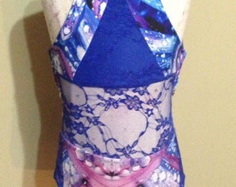 Kick Style Leotard, Girls leotard, Mesh leotard, Custom leotard, Dancewear