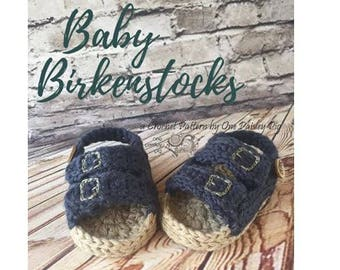 Baby Sandals / Baby Birkenstocks PDF CROCHET PATTERN