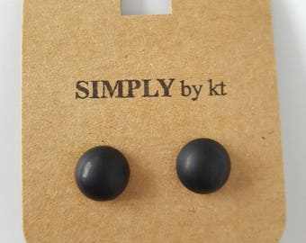 Clay Earrings - Black