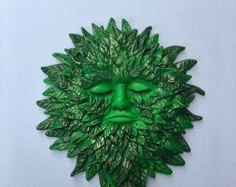 Pagan Green Man, Wiccan Altar Tile