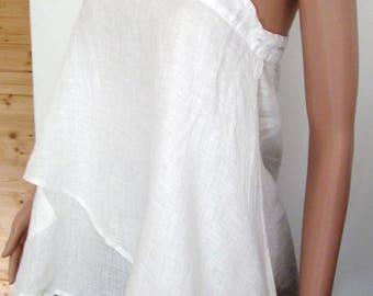 Pure white linen tunic