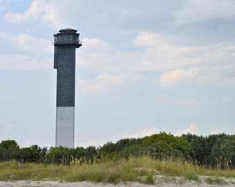 Beach House Fine Art Photography Sullivan's Island Lighthouse Charleston South Carolina Southern Coast Atlantic Ocean Wall Art Photograph