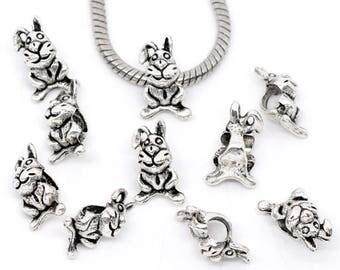 Bead European Bracelet Charms 17X10mm Bunny