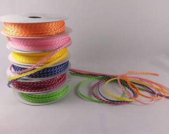1/8 Inch Grosgrain Ribbon in Six Colors