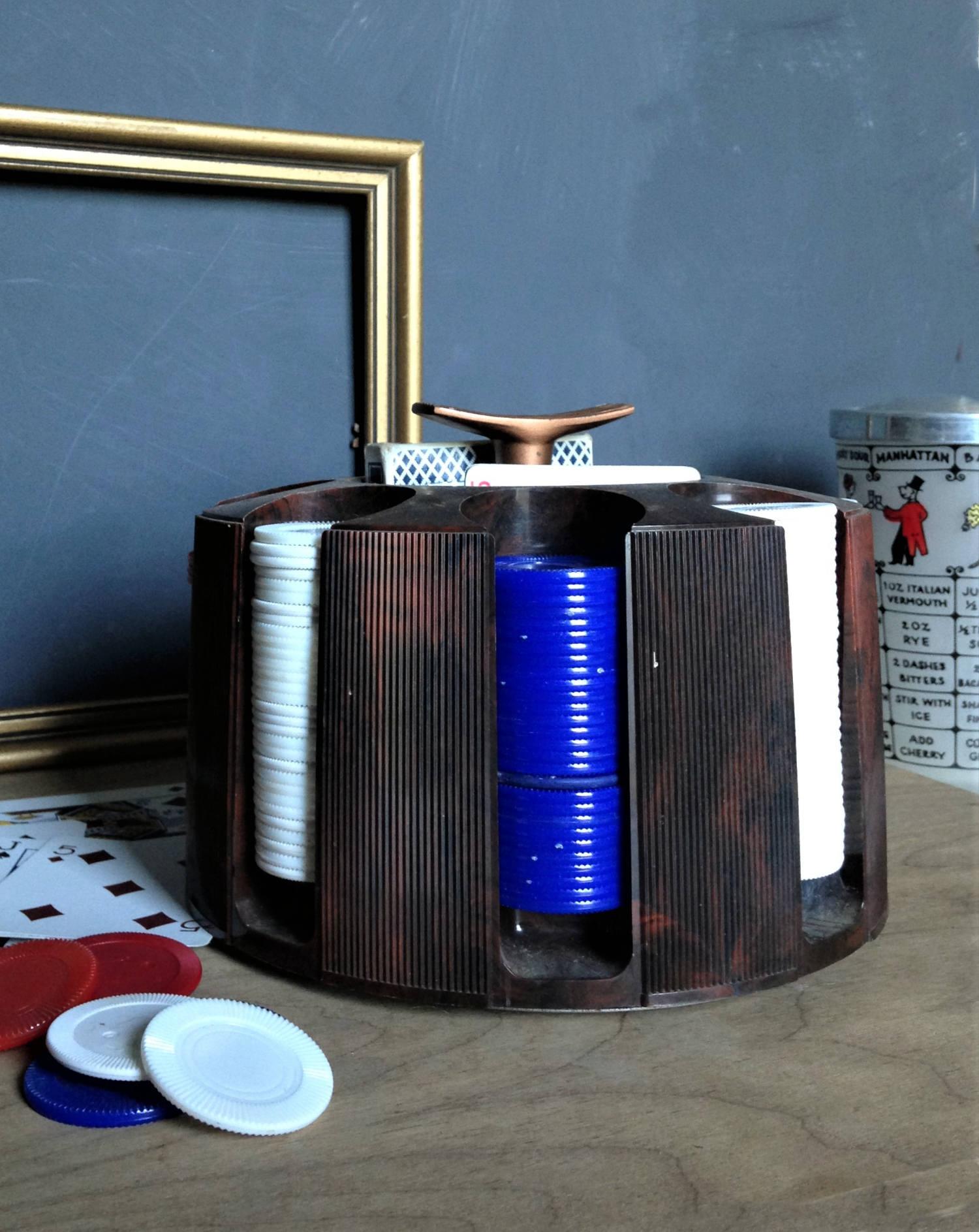 Vintage Poker Caddy, Plastic Poker Chip Carousel ...