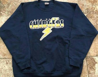 Vtg 90s SAN DIEGO CHARGERS Crewneck Sweatshirt XLarge