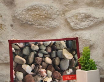 Pebbles oilcloth pouch