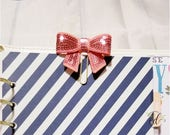 Sequin Bow Clips   Bow Planner Clips   Sparkly Bow Planner Clips   Glitter Planner Clips   Planner Accessories   Planner Supplies   Office