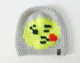 Crochet Slouchy Hat | Wink and Kiss Emoji | iHat v1.0