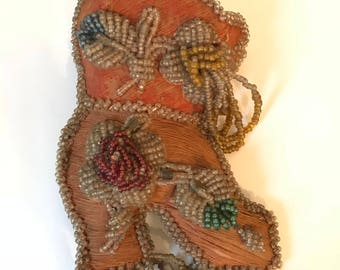 Antique Indian Beaded Pin Cushion/Souvenir