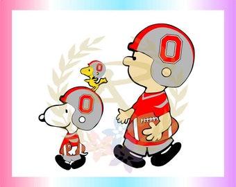 Football, Sports, Teams, Charlie, Snoopy, Ohio State, SVG