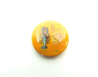 Vintage 80s The B-52's Rock Lobster Pin / Button / Badge